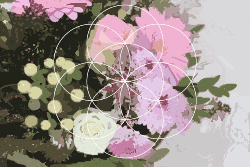 Flower Baskets Vector : Flower basket photo vector texture background graphic